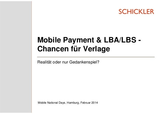 Mobile Payment & LBA/LBS: Chancen für Verlage?