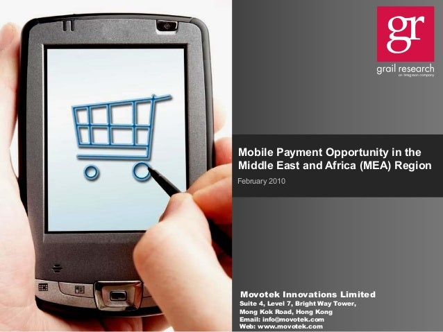 Mobile payment opportunity in the midle east and africa(mea) region