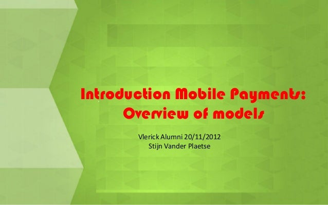 Mobile payments Introduction