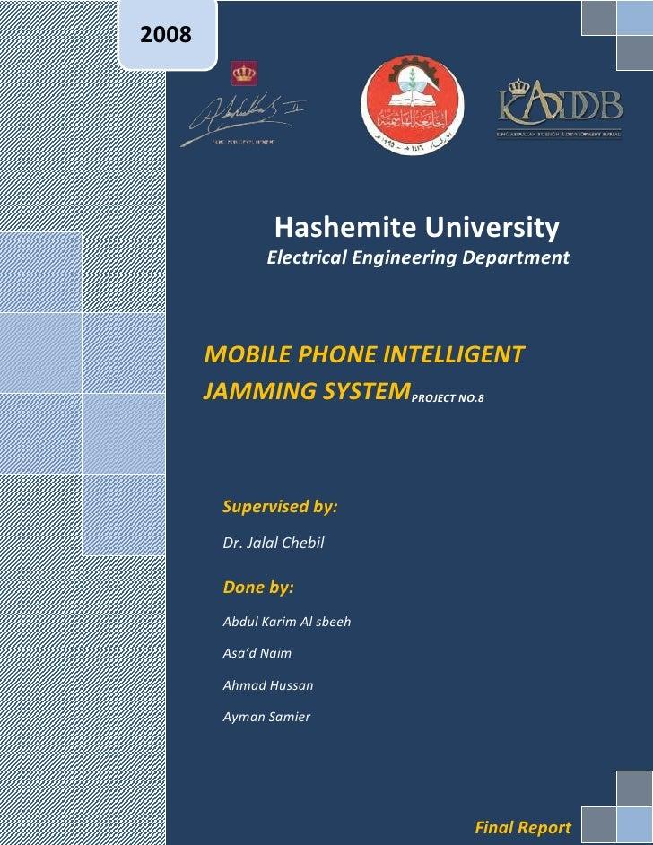 2008                Hashemite University              Electrical Engineering Department       MOBILE PHONE INTELLIGENT    ...