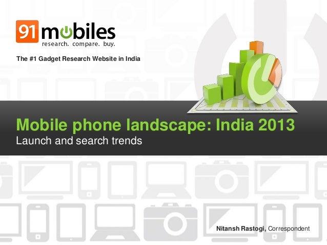 Mobile phone landscape - India 2013