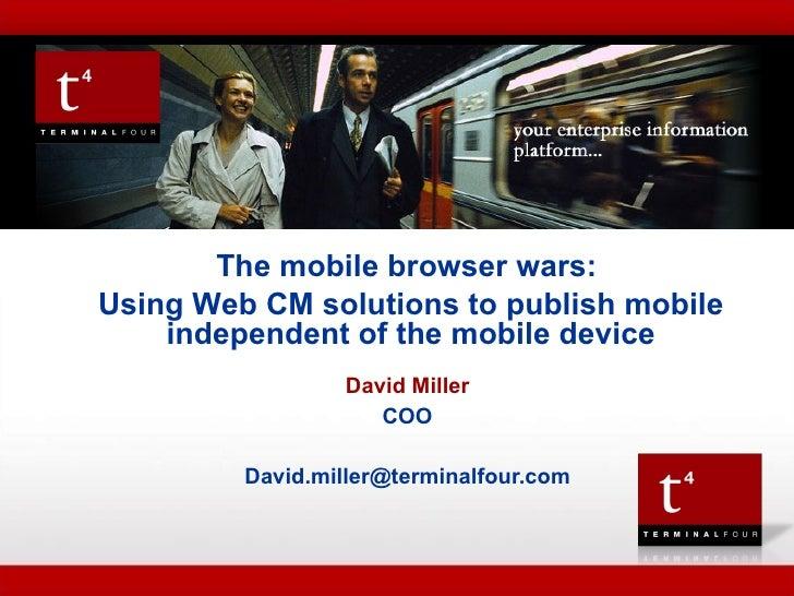 Mobile Phone Publishing   Terminalfour Presentation V3