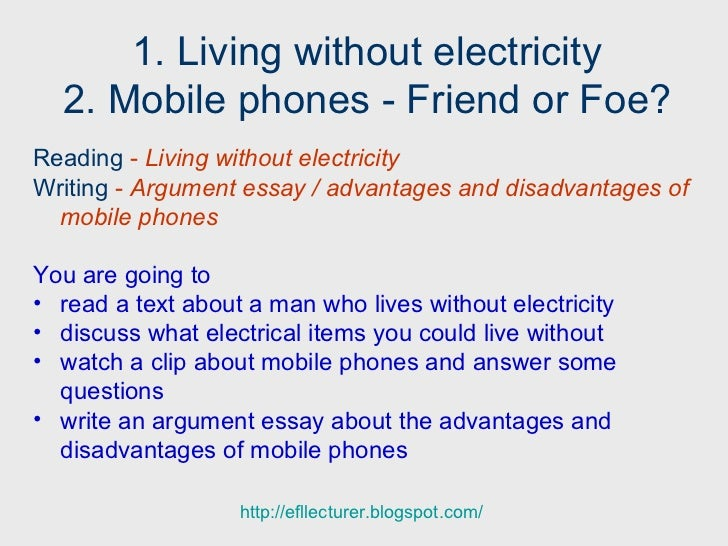 life without mobile phones essay