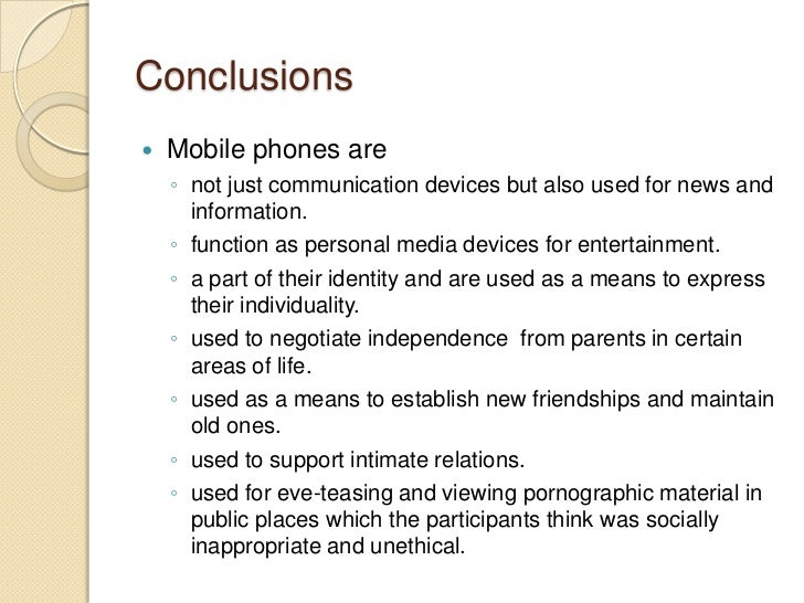 Essay on should students be allowed to use cell phones