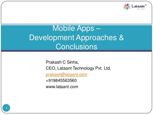 Mobile Apps Develpment - A Comparison