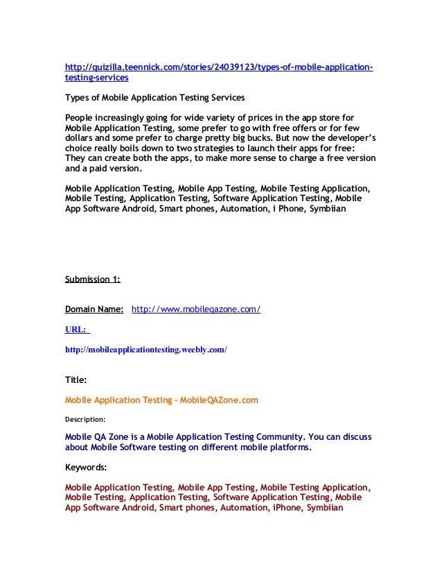 Mobile Application Testing Software – MobileQAZone.com