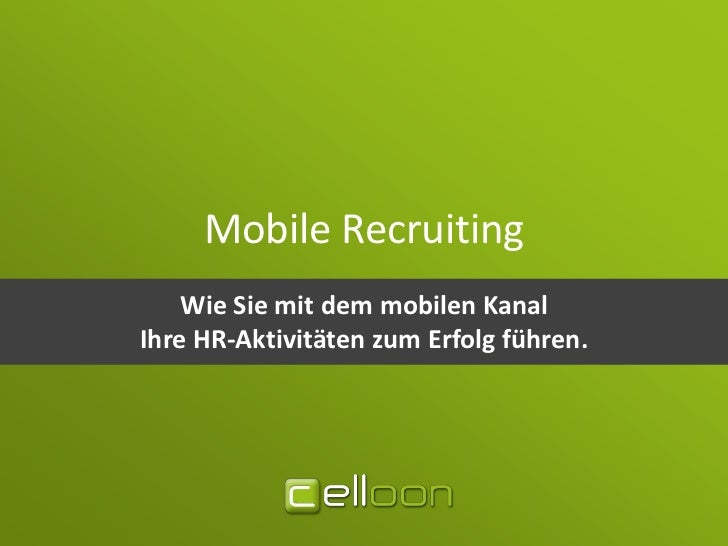 Mobile Recruiting Whitepaper & Guide (2012)