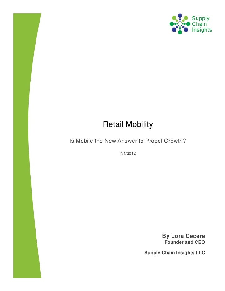 Retail Mobility Report -- 25 JUNE 2012