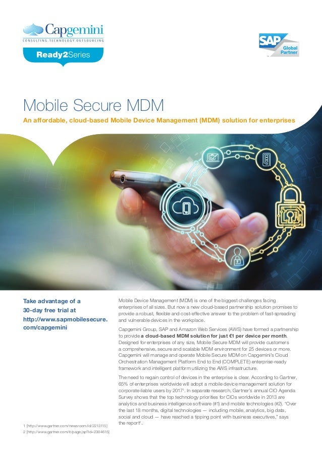 An affordable, cloud-based Mobile Device Management (MDM) solution for enterprises Mobile Secure MDM Mobile Device Managem...