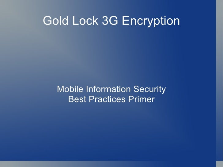 Mobile Security Best Pract Gold Nugget