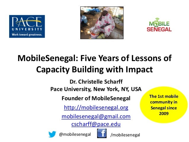 Mobile Senegal: 5 years of Capacity Building with Impact