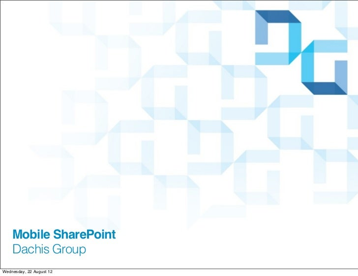 Making SharePoint Mobile