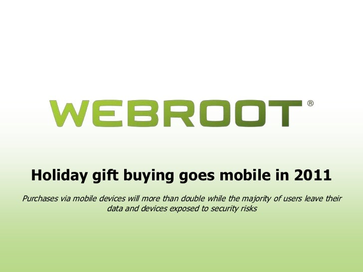 Holiday shopping via mobile devices in 2012