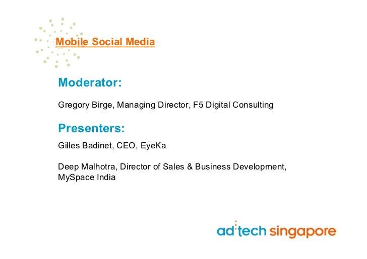 Mobile Social Media Adtech Singapore
