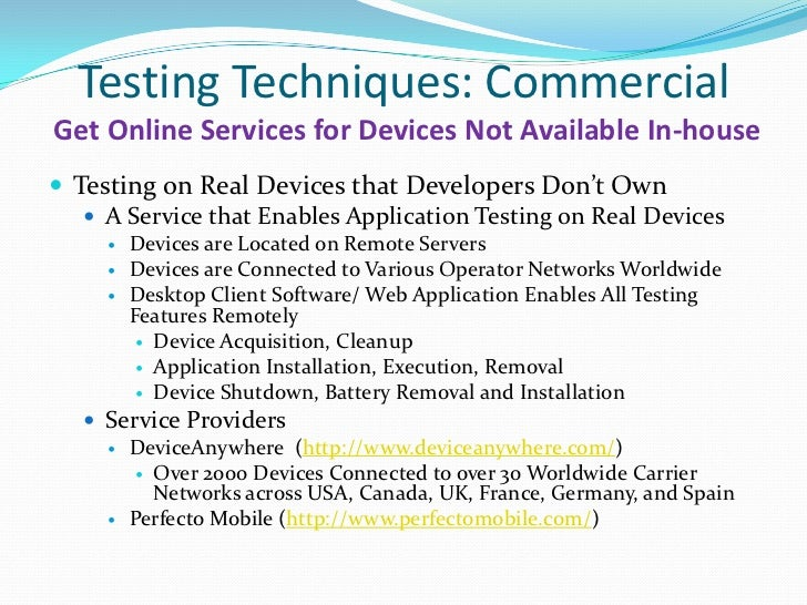 testing tools to determine commercial viability of software A project report payroll (1) decision rules that are used to determine whether a software item various commercial non-functional testing tools are linked.