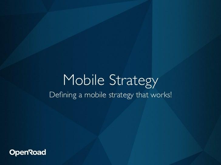 Mobile Strategy Seminar