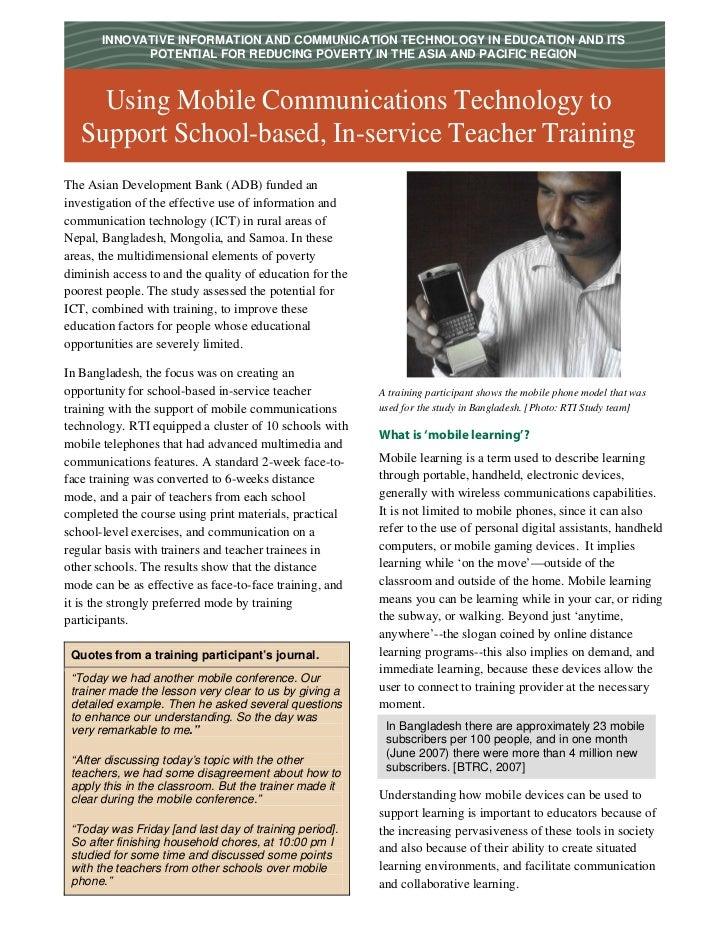 Mobile Teacher Training  S T E P  A P