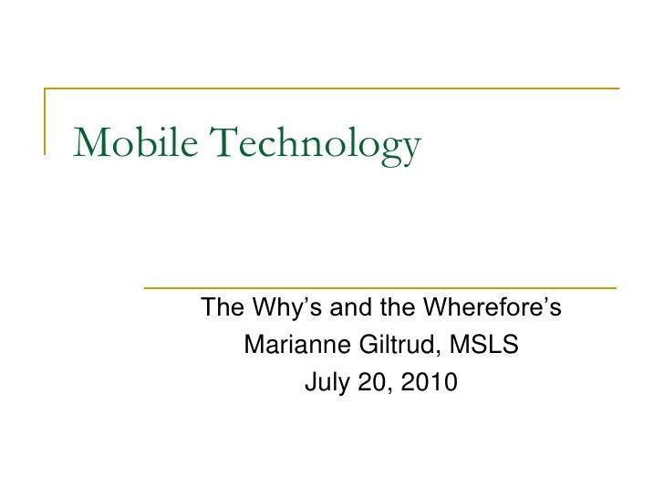 Mobile Technology07202010