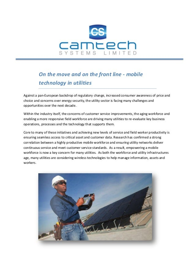 Mobile technology in utilities july 2013