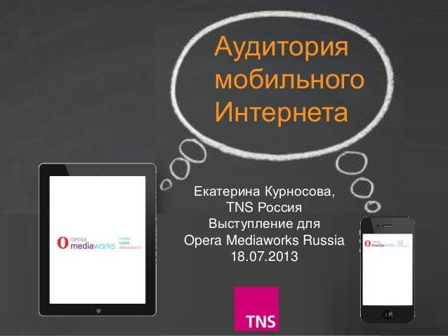 Данные ТНС для конференции Opera Mediaworks Russia