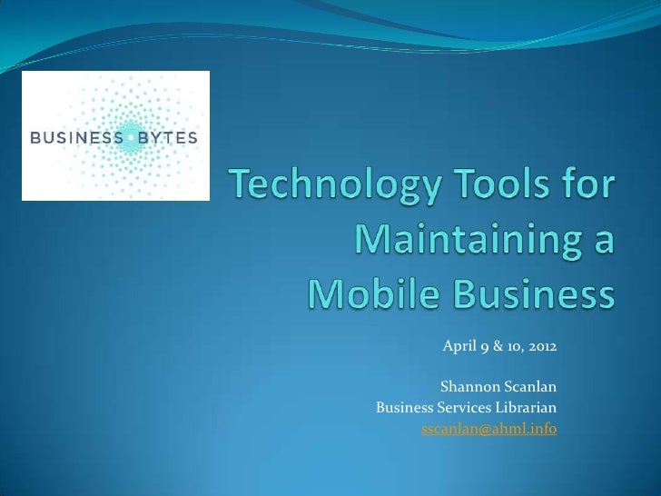 Mobile Tools for Your Business