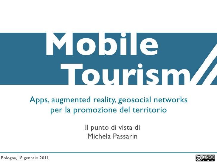 Mobile Tourism: nuovi scenari per la comunicazione turistica istituzionale