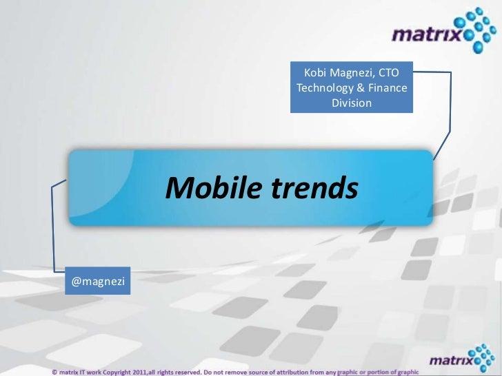 Kobi Magnezi, CTO                   Technology & Finance                        Your name                         Division...