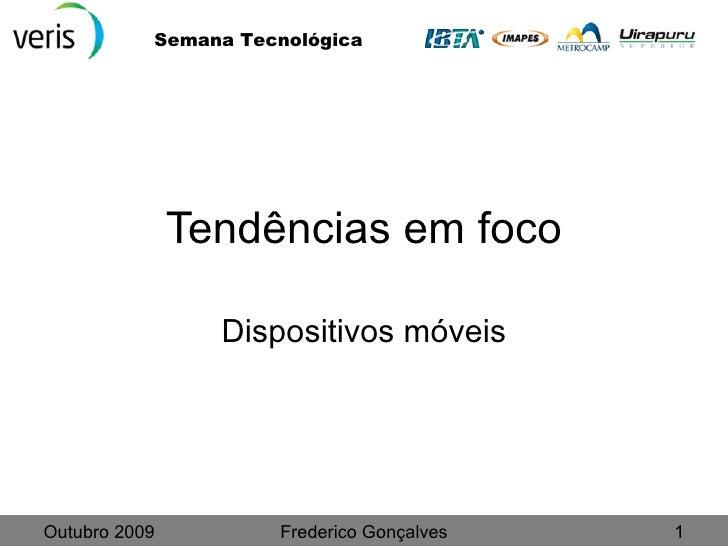 Tendências dispositivos móveis 2009
