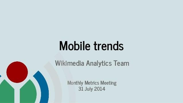 Wikimedia mobile trends