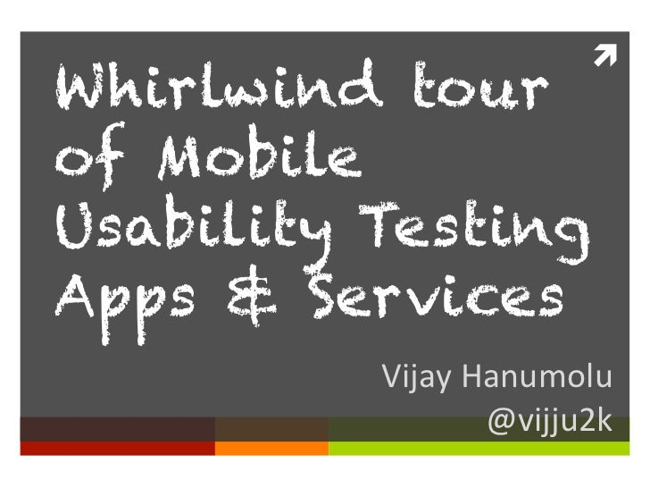 Tour of Mobile usability testing apps and services