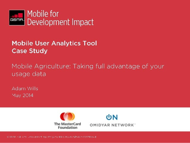 Mobile user analytics tool case study   mobile agriculture