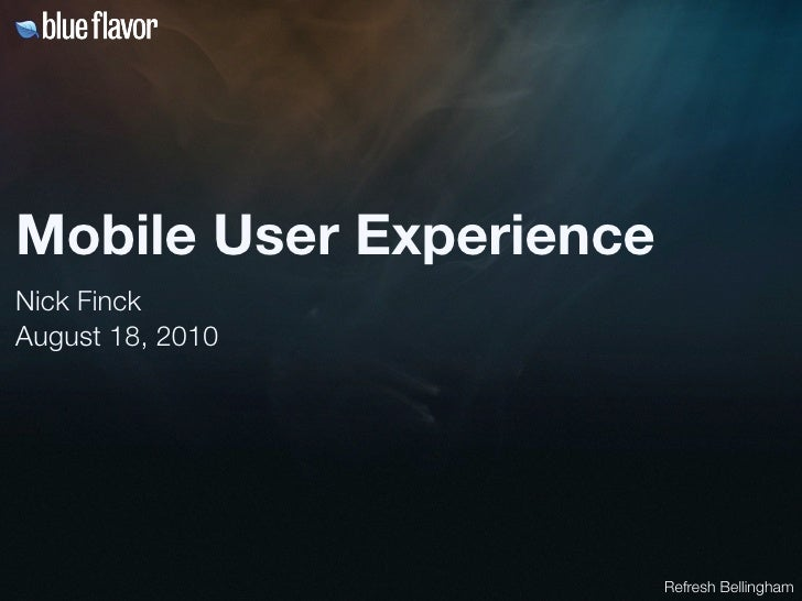 Mobile UX
