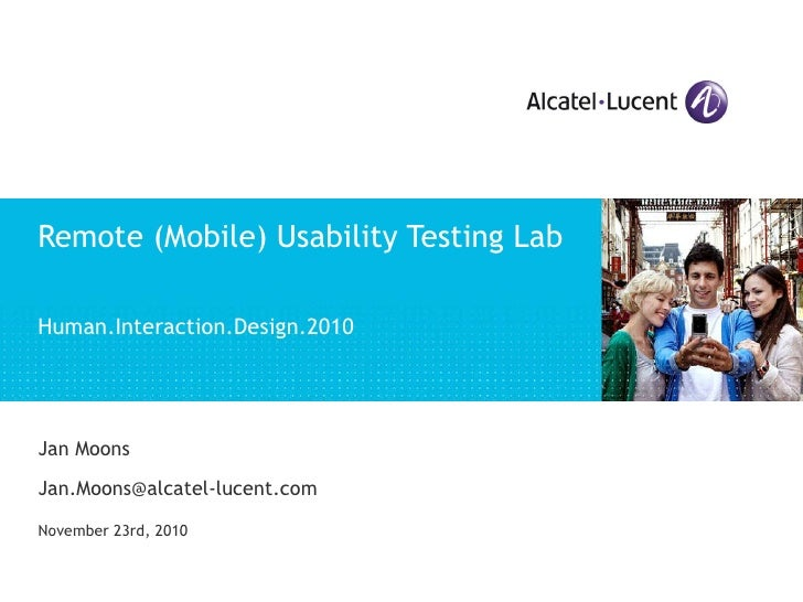 Remote (Mobile) Usability Testing Lab