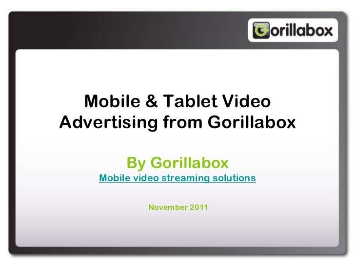 Gorillabox - Mobile video advertising