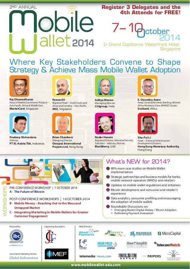 2nd Mobile Wallet Asia Agenda, Singapore,Oct 2014