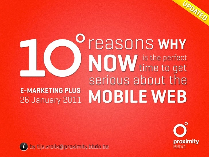 Why you should get serious about the mobile web by TijsVrolix