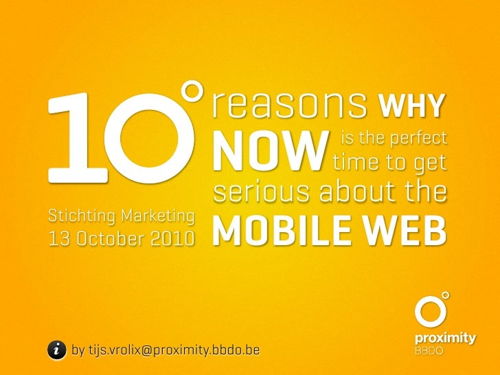 10 reasons why now is the perfect time to get serious about the mobile web