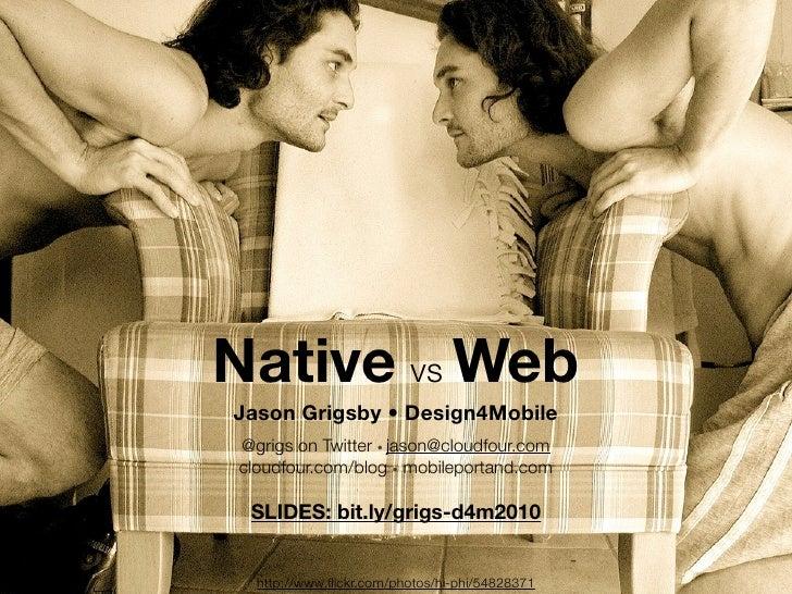 Mobile Web vs. Native Apps | Design4Mobile