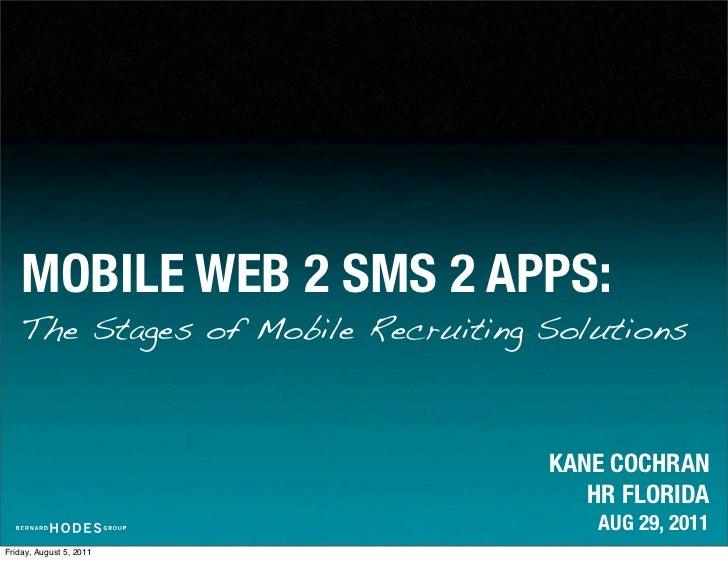 Cochran - Mobile web 2 sms