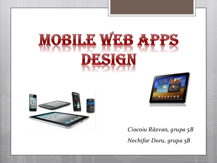 Mobile web apps design