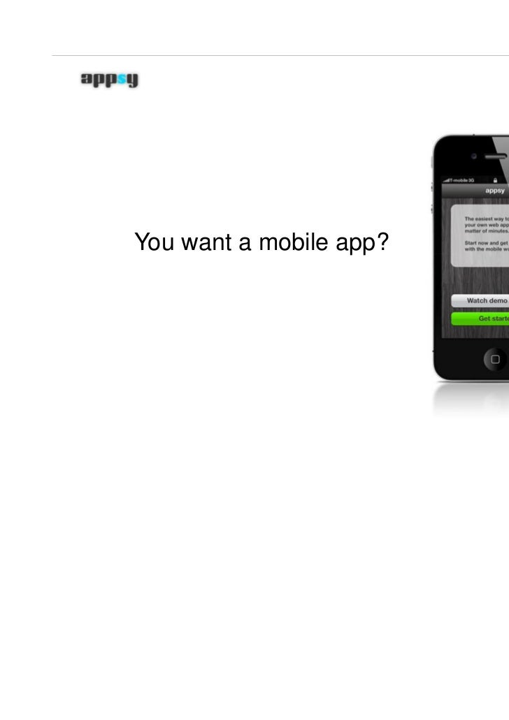 Mobile web apps in minutes