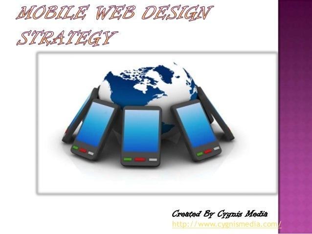 Mobile web design strategy