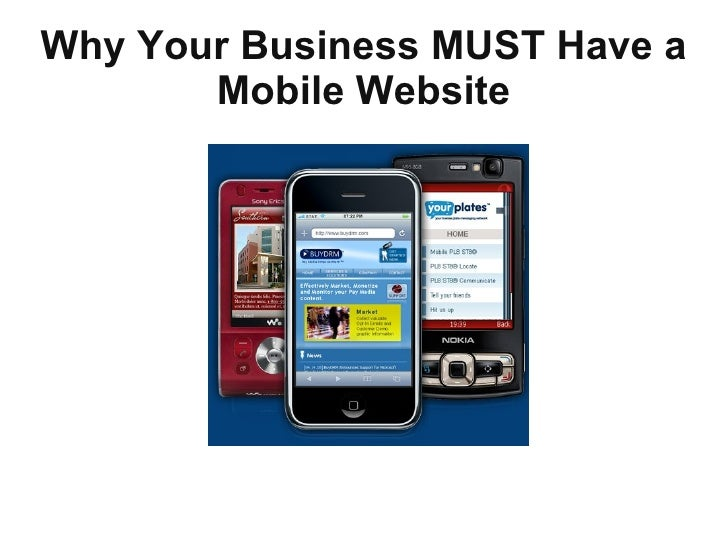 Why Your Business MUST Have a Mobile Website