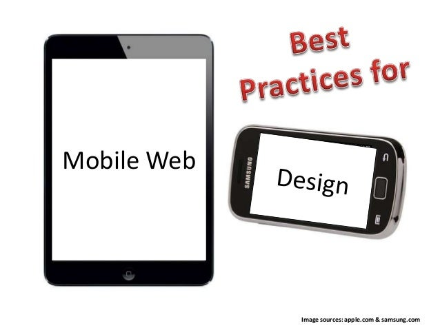 Best Practices for Mobile Web Design