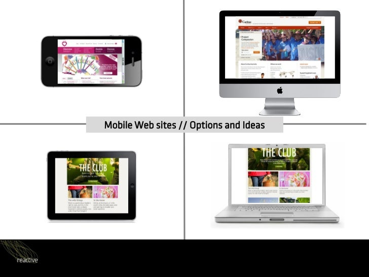 Mobile Web sites // Options and Ideas