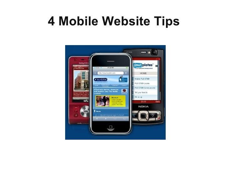 4 Mobile Website Tips