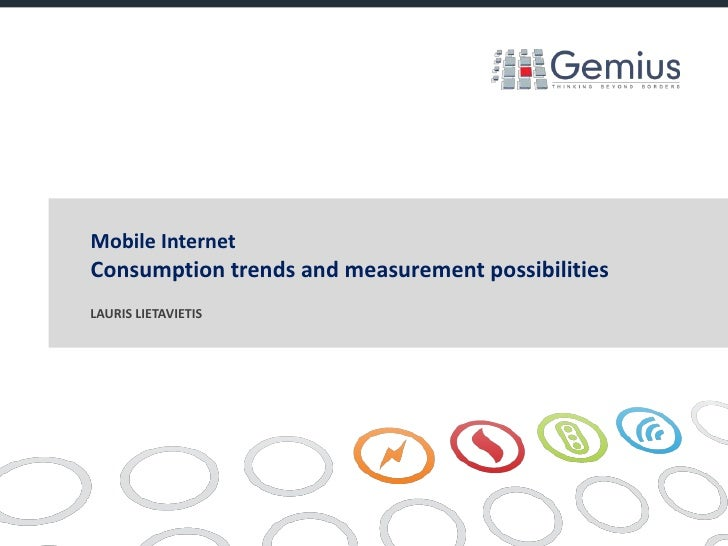 Mobile internet. Consumption trends and measurement possibilities.