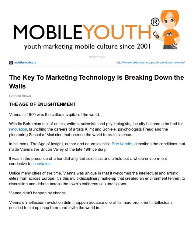 mobileyouth.org http://www.mobileyouth.org/post/break-down-the-walls/ Graham Brown Mobile Youth The Key To Marketing Techn...
