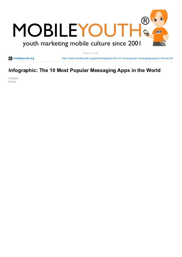 mobileyouth.org http://www.mobileyouth.org/post/infographic-the-10-most-popular-messaging-apps-in-the-world/ Graham Brown ...