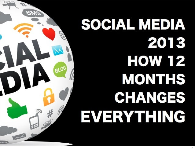 SOCIAL MEDIA 2013 HOW 12 MONTHS CHANGES EVERYTHING 1